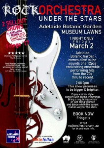 Rock Orchestra Under The Stars poster - ADLfringe - The Clothesline