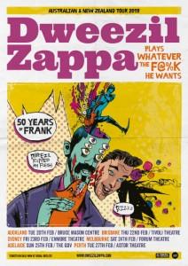 Dweezil Zappa - Tour Poster AUNZ - The Gov - The Clothesline