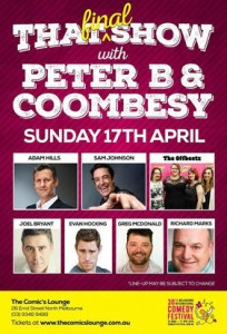 That Show Line Up - Peter B & Coombesy - MICF - The Clothesline