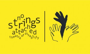 No Strings Attached Theatre of Disability Logo - KMPR - The Clothesline
